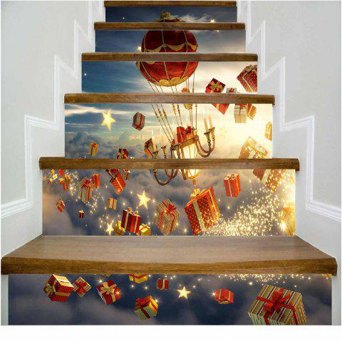 Christmas Gift Hot Air Balloon Stairs Sticker - MIXED COLOR 100 X 108 CM