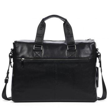 New Dan Jue Laptop All Imported Leather Men'S Shoulder Messenger Bag - BLACK