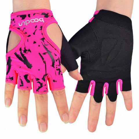 Sports Weight Lifting Exercise Slip-Resistant Glove For Women Yoga Gloves - PINK M
