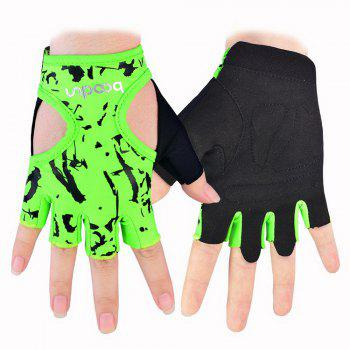 Sports Weight Lifting Exercise Slip-Resistant Glove For Women Yoga Gloves - GREEN GREEN