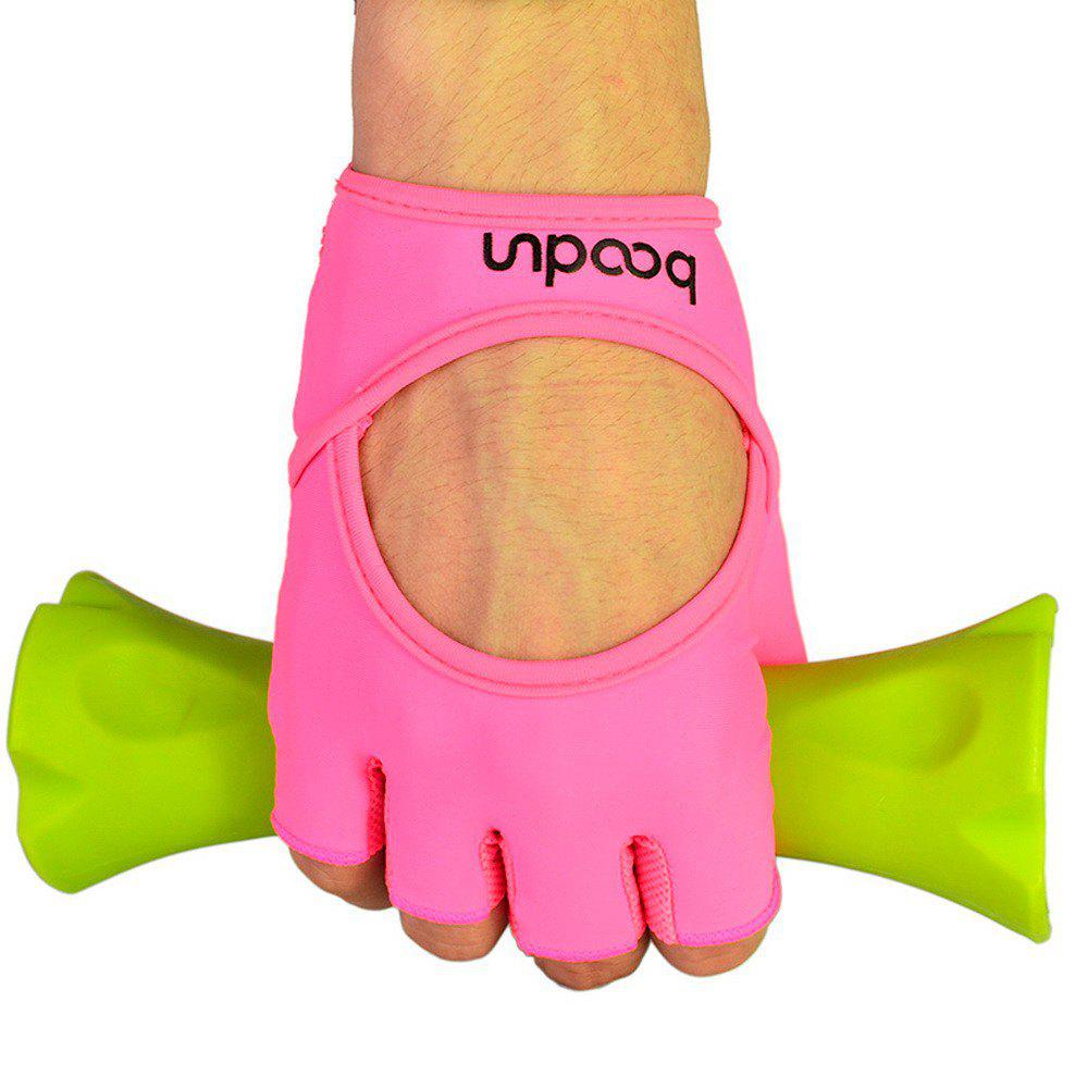 Sports Weight Lifting Exercise Slip-Resistant Gloves For Women Yoga Gloves Pin - PINK L