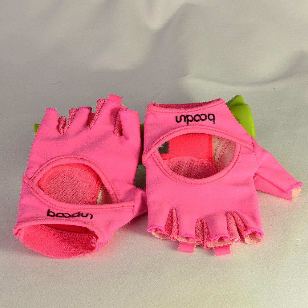 Sports Weight Lifting Exercise Slip-Resistant Gloves For Women Yoga Gloves Pin - PINK M