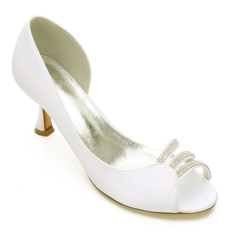 17061-32 Wedding Shoes Women's Shoes - IVORY COLOR 39