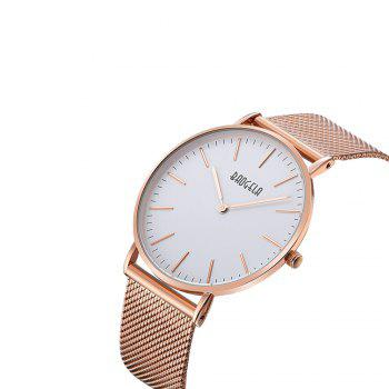 BAOGELA 1609 Casual Steel Mesh Band Couple Quartz Watch - ROSE GOLD