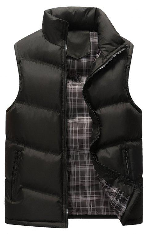 The Men's Trend Plus The Thick Cotton Waistcoat - BLACK 5XL