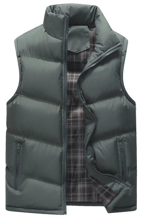 The Men's Trend Plus The Thick Cotton Waistcoat - GRAY 4XL