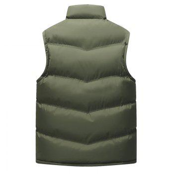 The Men's Trend Plus The Thick Cotton Waistcoat - ARMYGREEN L