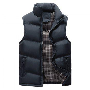 The Men's Trend Plus The Thick Cotton Waistcoat - PURPLISH BLUE PURPLISH BLUE