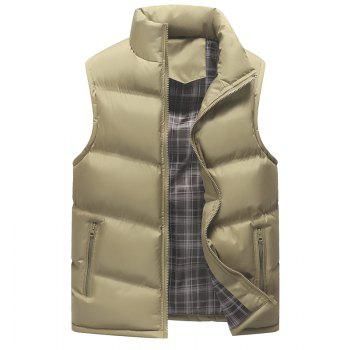 The Men's Trend Plus The Thick Cotton Waistcoat - KHAKI KHAKI