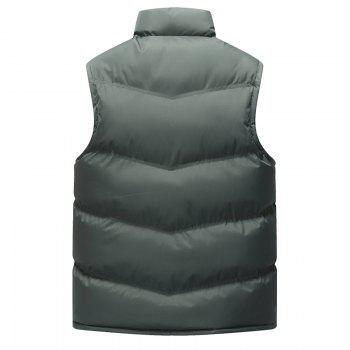 The Men's Trend Plus The Thick Cotton Waistcoat - GRAY 2XL