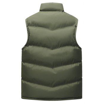The Men's Trend Plus The Thick Cotton Waistcoat - ARMYGREEN 3XL