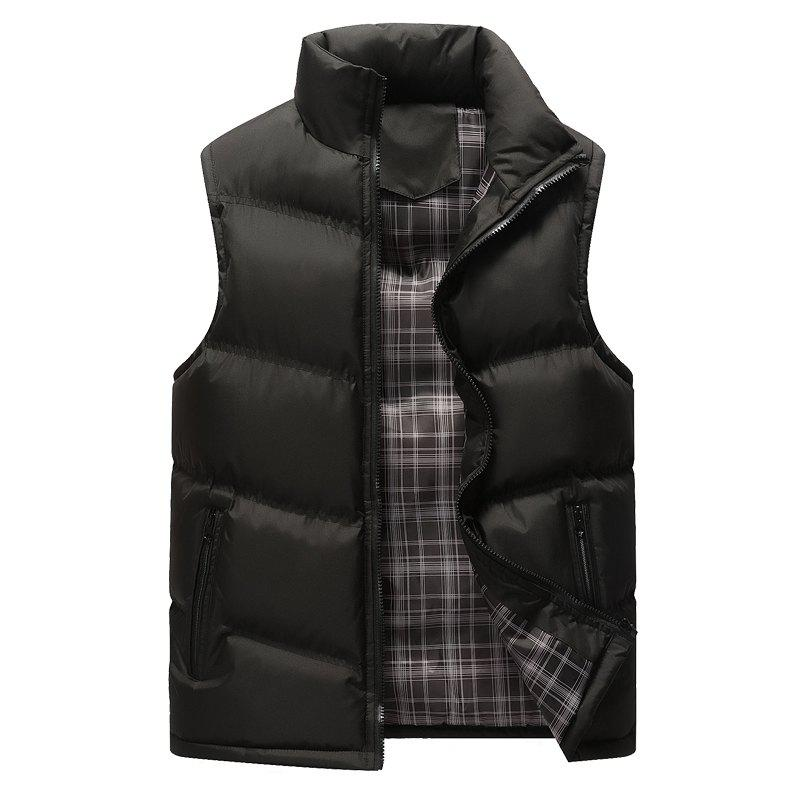 The Men's Trend Plus The Thick Cotton Waistcoat - BLACK XL