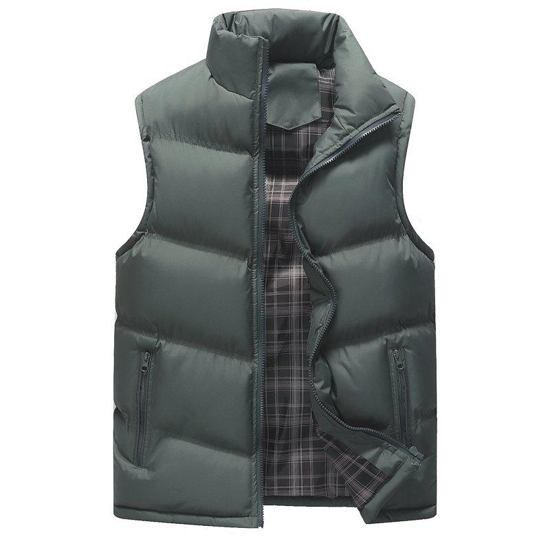 The Men's Trend Plus The Thick Cotton Waistcoat - GRAY 3XL