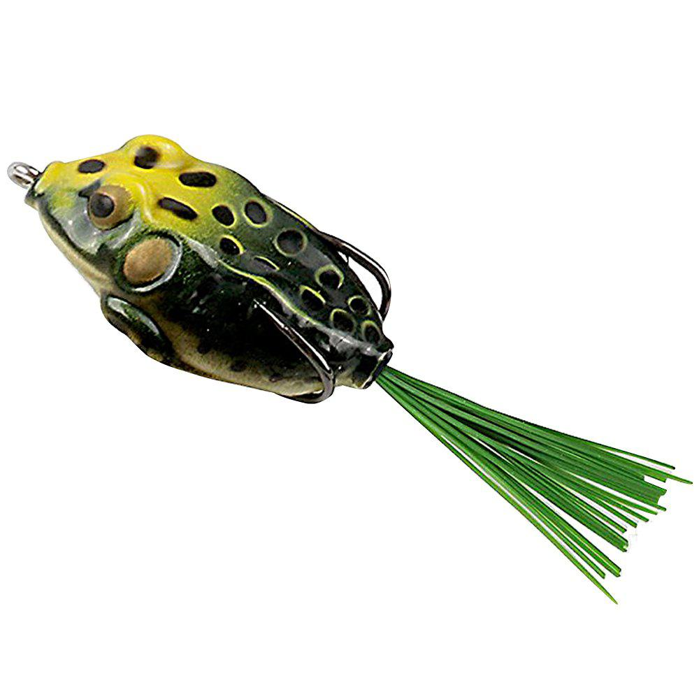 Topwater Hollow Frog Fishing Lure Soft Bait Set with Tackle Box for Freshwater and Saltwater Fishing - multicolor
