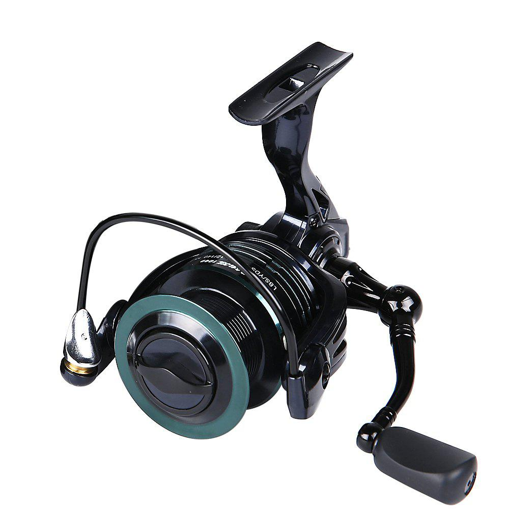 HONOREAL 3000 Aluminum Spool 9+1 BB CNC Handle Spinning Fishing Reel with Free Spare Graphite Spool - BLUE/GREEN