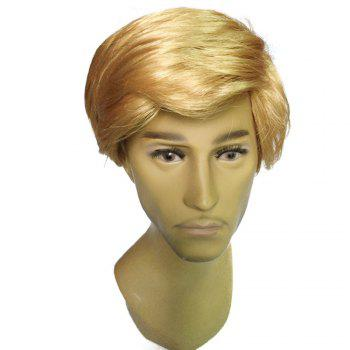 Men Golden Fashion Short Wig - GOLDEN