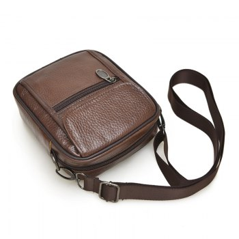 Leather Buiness Casual Shoulder Waist Crossbody bag - BROWN