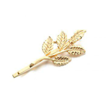 Metal Plant Leaf Branch Hairclip Fashion  Barrette Hair Jewelry For Women Hair Decoration - GOLDEN GOLDEN