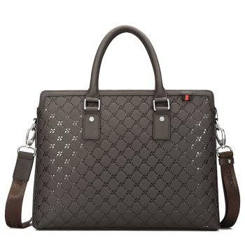 HAUT TON Embossing Business Leather Briefcase Top
