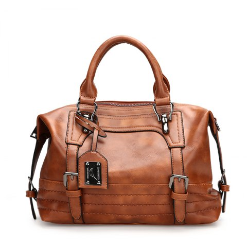 Wax Oil Pipi Restoring Ancient Ways with Decorative Handbags - BROWN