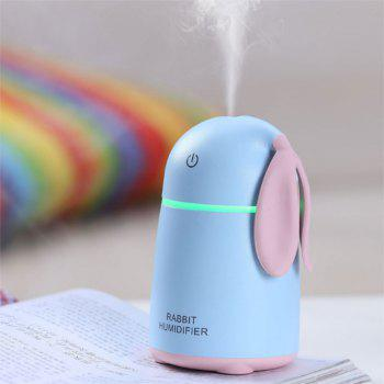 Mini USB Rabbit Humidifier Luminescent Mute - BLUE