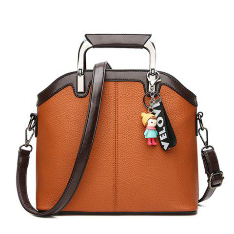 New Handbag Fashion Tassel Shell Messenger Bag - BROWN