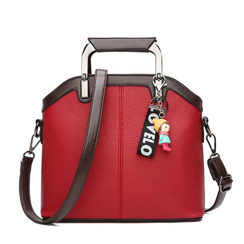 New Handbag Fashion Tassel Shell Messenger Bag - RED