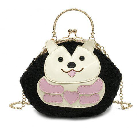 Cartoon Messenger Bag New Princess Girl Portable Clip Mouth Package - BLACK