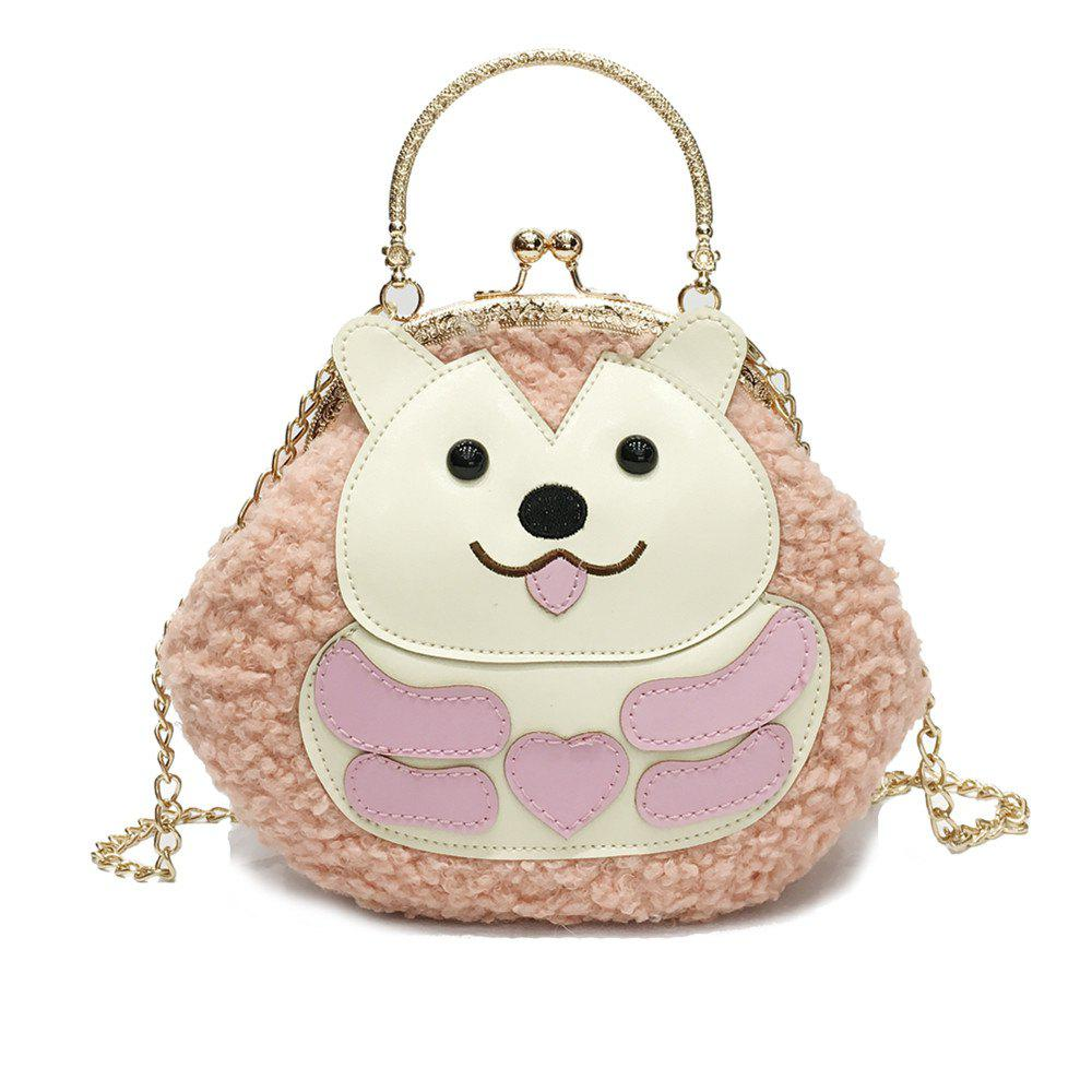 Cartoon Messenger Bag New Princess Girl Portable Clip Mouth Package - PINK