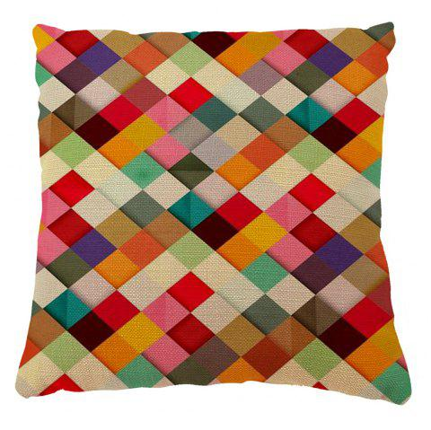 Soft Colored Squares Home Decor Pillow Case - COLORMIX 16INCH X 16INCH