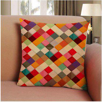 Soft Colored Squares Home Decor Pillow Case - COLORMIX COLORMIX