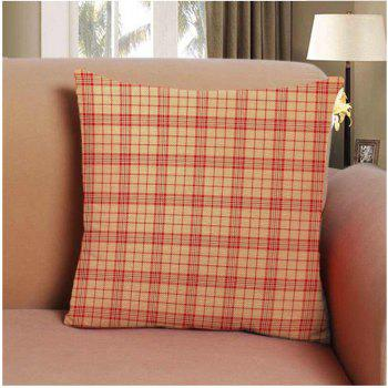 Soft Striped Lattice Home Decor Pillow Cases 16inch x 16inch - YELLOW YELLOW
