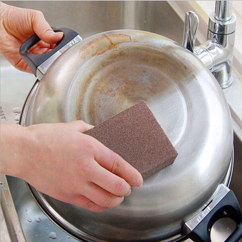 Tasteless Nano Rust Kitchen Sponge Rub Emery Magic to Clean Oven - BROWN