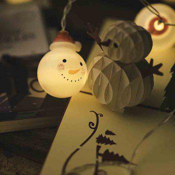 LED Christmas Doll Snowman Headlight String Decorative Lights - WARM WHITE 5.5-INCH