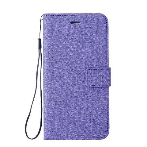 Cotton Pattern Leather Case for Huawei Y6 PRO - PURPLE