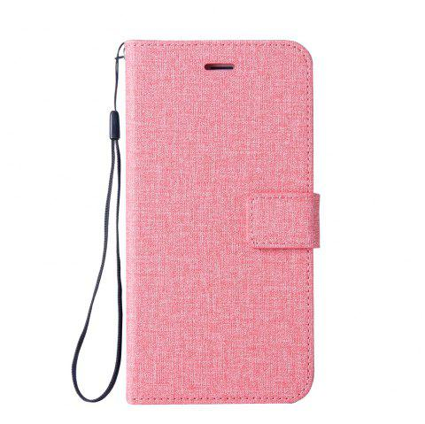 Cotton Pattern Leather Case for Huawei Y5 2017 - PINK