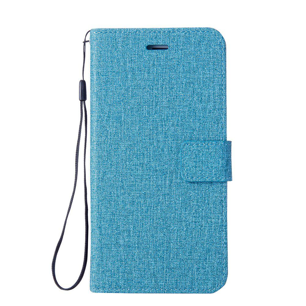 Cotton Pattern Leather Case for Huawei Y5 2017 - BLUE