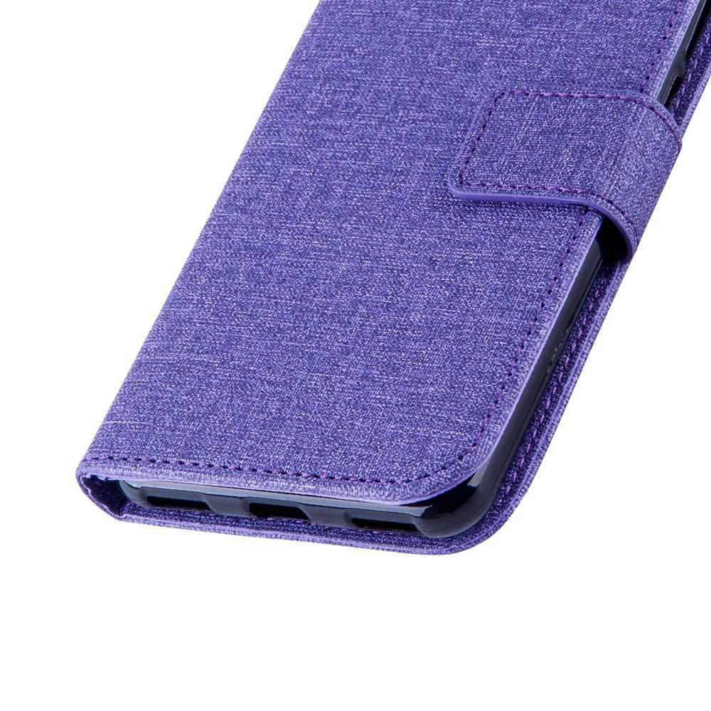 Cotton Pattern Leather Case for Huawei Y5 2017 - PURPLE