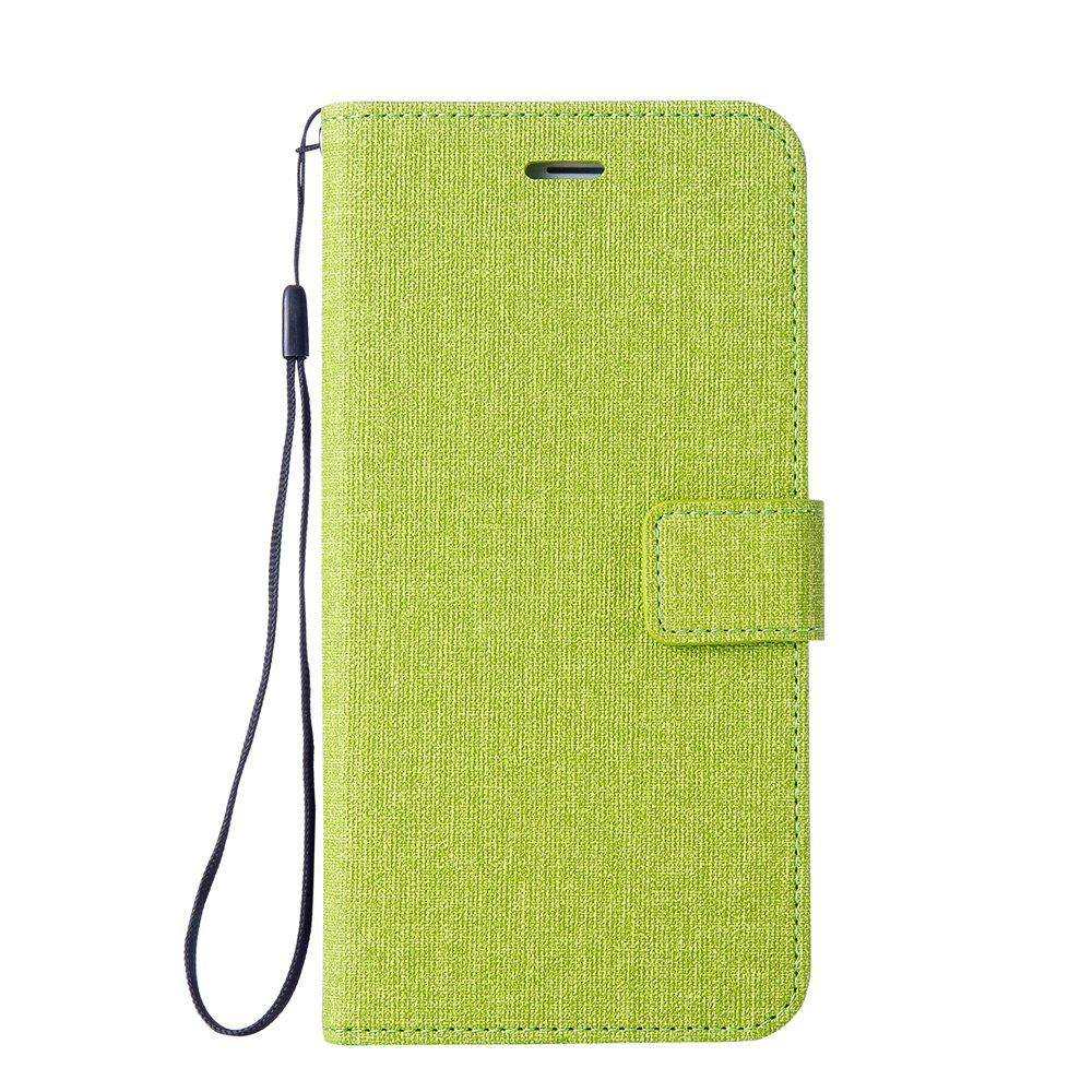 Cotton Pattern Leather Case for Huawei Y5 2017 - GREEN