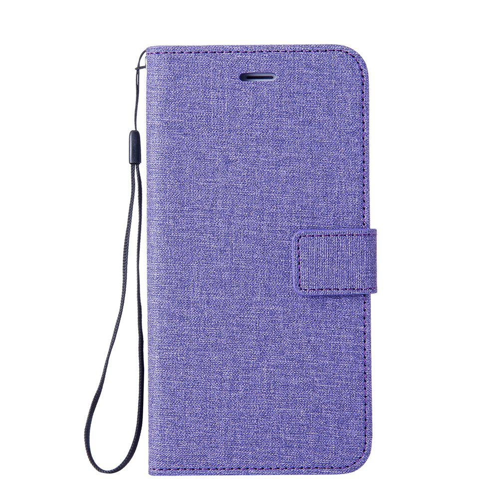 Cotton Pattern Leather Case for Samsung Galaxy J7 MAX - PURPLE