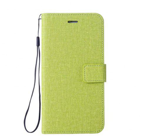 Cotton Pattern Leather Case for Samsung Galaxy S7 - GREEN