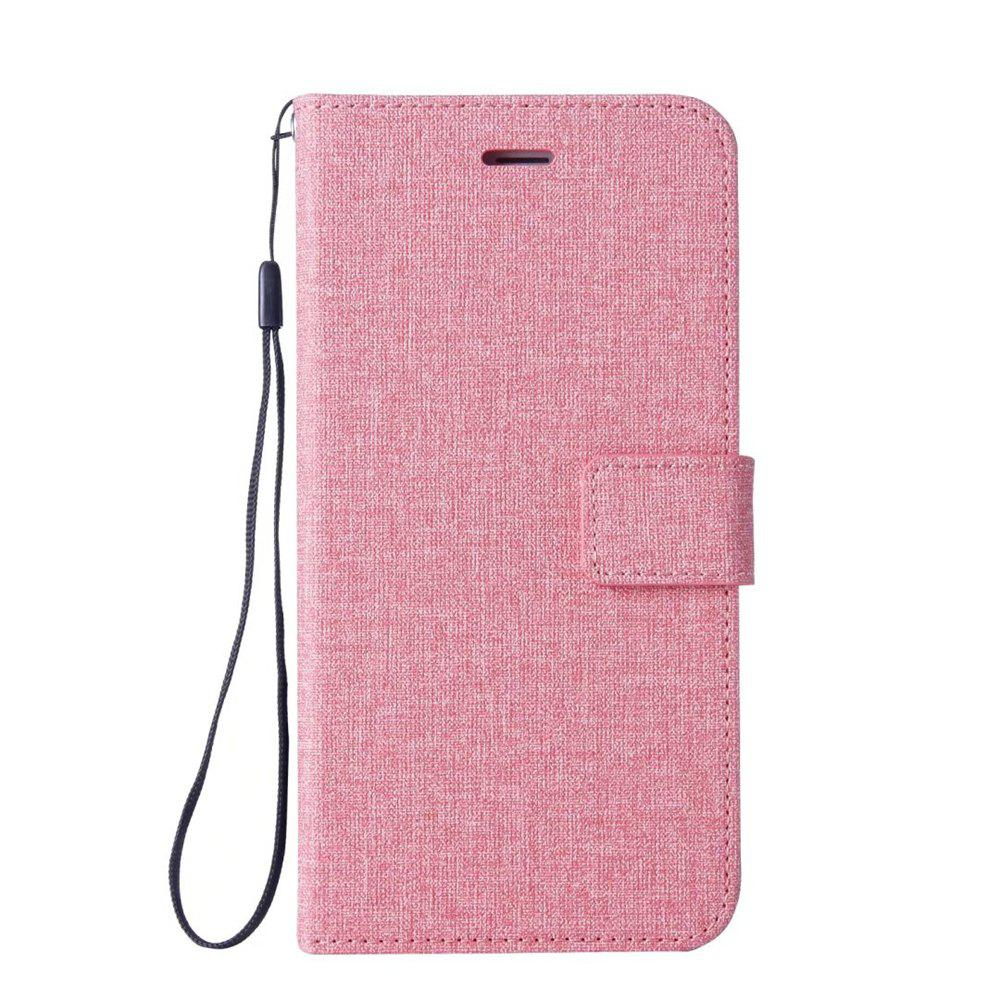 Cotton Pattern Leather Case for Samsung Galaxy S7 - PINK