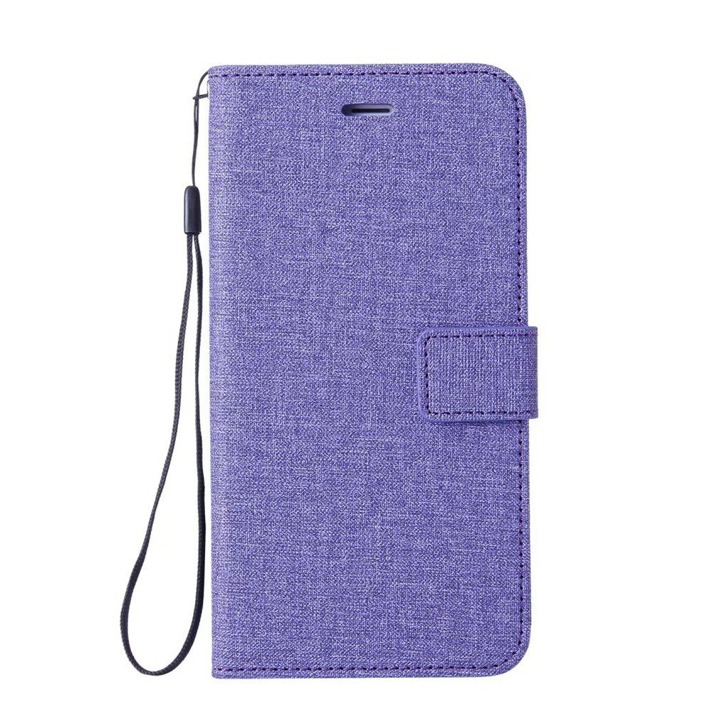 Cotton Pattern Leather Case for Samsung Galaxy S7 - PURPLE