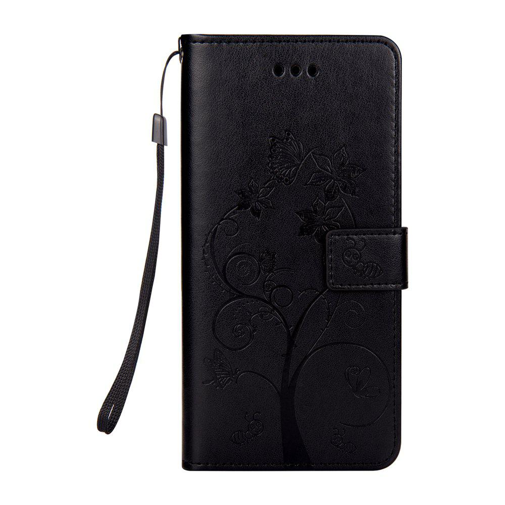 Ants On The Tree Flip PU Leather Dirt Resistant Case for iPhone 6 - BLACK