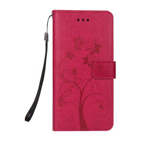 Ants On The Tree Flip PU Leather Dirt Resistant Case for iPhone 6 PLUS - ROSE RED