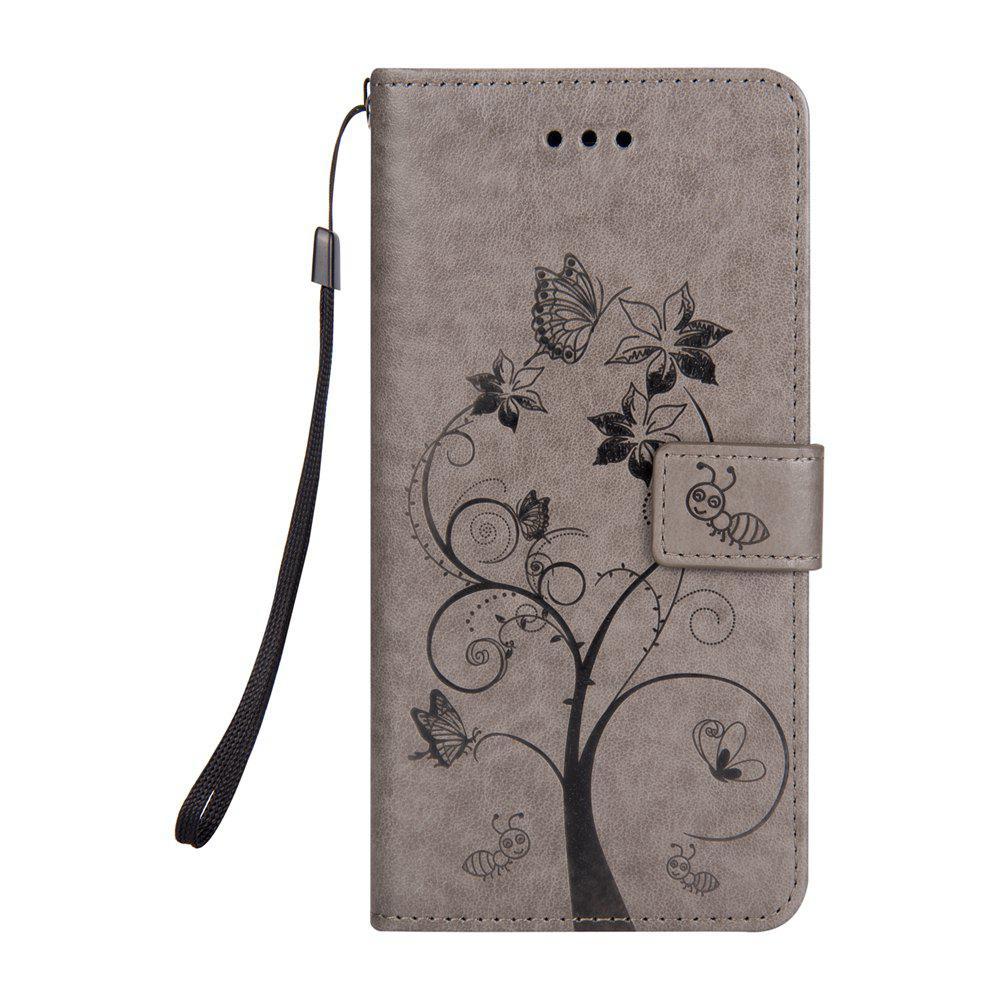 Ants On The Tree Flip PU Leather Dirt Resistant Case for iPhone 6 PLUS - GRAY