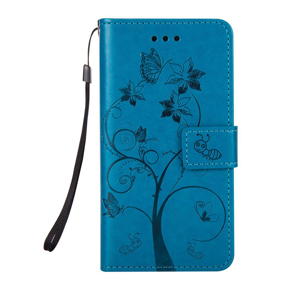 Ants On The Tree Flip PU Leather Dirt Resistant Case for iPhone 6 PLUS - BLUE