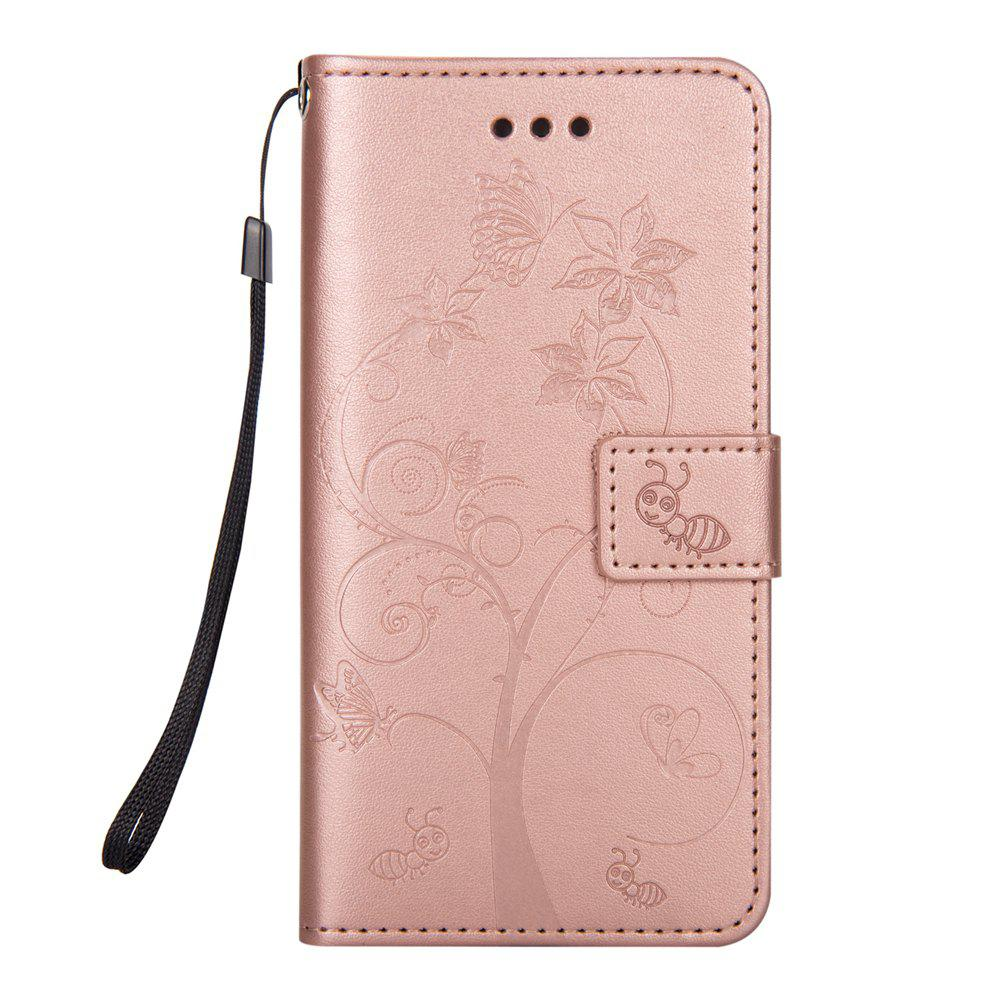 Ants On The Tree Flip PU Leather Dirt Resistant Case for iPhone 6 PLUS - ROSE GOLD