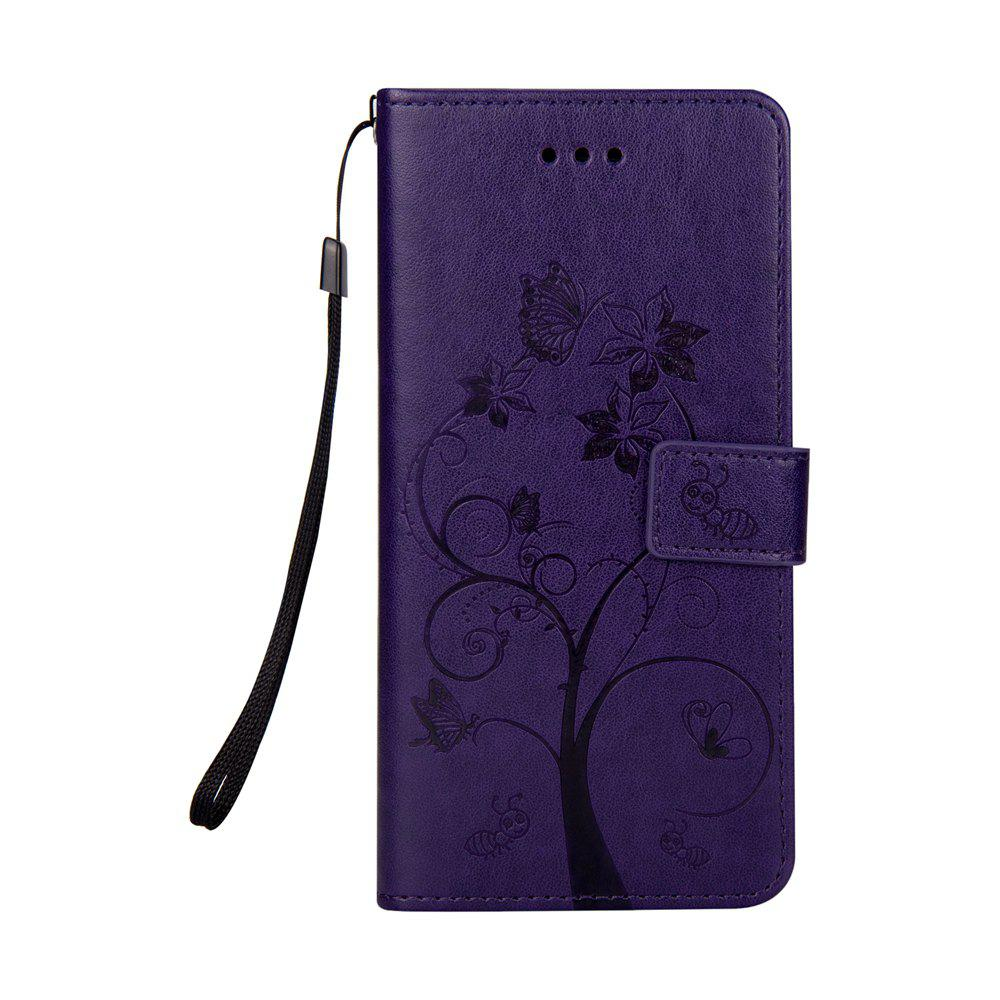 Ants On The Tree Flip PU Leather Dirt Resistant Case for iPhone 6 PLUS - PURPLE