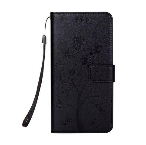 Ants On The Tree PU Leather Dirt Resistant Phone Case for Samsung Galaxy A520 - BLACK